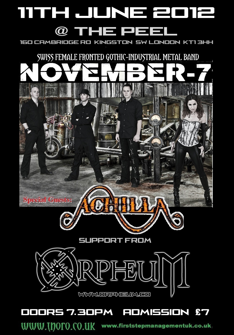 November-7, Achilla, Orpheum @ The Peel
